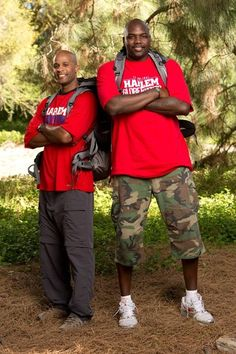 """Harlem Globetrotters Herb """"Flight Time"""" Lang (left) and Nate """"Big Easy"""" Lofton (right) on the new season of THE AMAZING RACE  Name: Herbert """"Flight Time"""" Lang Age: 37 Hometown: Brinkley, Ark. Previous Seasons: Seasons 15 & 18 Current occupation: Harlem Globetrotter  Name: Nathaniel """"Big Easy"""" Lofton Age: 32 Hometown: New Orleans, La. Previous Seasons: Seasons 15 & 18 Current occupation: Harlem Globetrotter"""