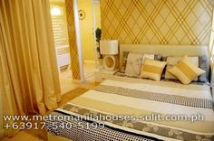 Masters Bedroom LOW MAINTENANCE Diana Townhouse in Lancaster Estates Cavite Model House, Real Estate Development, Lancaster, Townhouse, Property For Sale, Masters, Diana, Bedroom, Furniture
