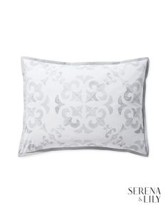 Shop the Look: Master & Guest Bedrooms Goose Down Pillows, Visual Texture, Patterned Sheets, Guest Bedrooms, Luxury Bedrooms, Luxury Bedding Sets, Crate And Barrel, Simple Designs, Print Patterns