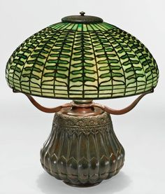 """Fern"" table lamp by Tiffany Studios, circa 1900-02 - Pictify - your social art network"
