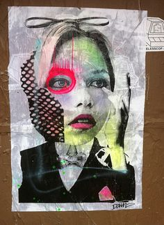 Brooklyn street artist DAIN - So reminds us of Dada Collage. Does it you?