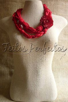 inspiration - pretty fabric necklaces on this site