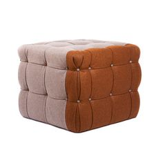 Age Before Beauty now featured on Fab. [Ottoman, neutral brown cube, Christopher Roy, Why Not Bespoke]