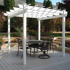 Dura-Trel Add drama to your backyard and create an outdoor living space with the Dura-Trel Kingston Pergola. This lovely structure perfectly covers your outdoor patio furniture, or can support vines a