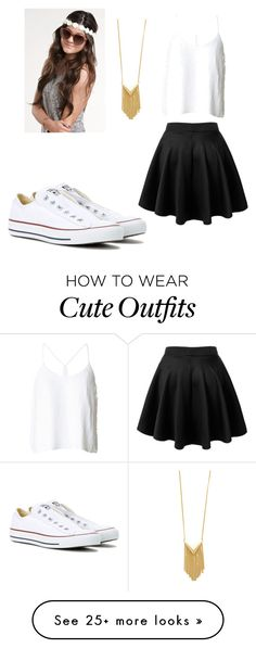 """""""Simple and cute summer outfit"""" by bangel012 on Polyvore featuring TIBI, Sam Edelman and Converse"""