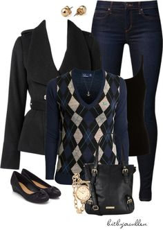 """""""Preppy in Argyle-Contest"""" by bitbyacullen ❤ liked on Polyvore"""