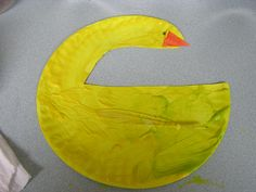 Duck paper plate craft for farm week
