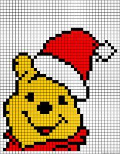 Christmas Winnie the Pooh perler bead pattern