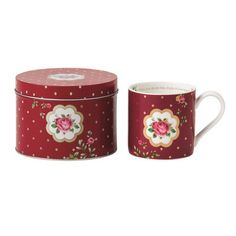 Royal Albert New Country Roses Mug with Tin Container