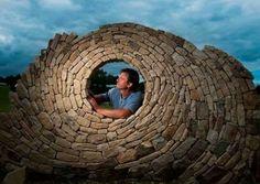 Circle brick wall