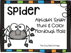 Spider Hunt and Playdough mats by The Cozy Red Cottage | TpT