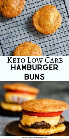 Keto Hamburger Buns Recipe Best Keto Buns for Burgers, Sandwiches, Hotdogs and Tacos! A great tasting ketofied bun recipe you'll love! Keto Foods, Keto Diet Drinks, Keto Snacks, Diabetic Snacks, Keto Buns For Burgers, Keto Burger, Low Carb Burger Buns, Low Carb Tacos, Keto Hamburger Bun Recipe