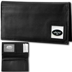 New York Jets Deluxe Leather Checkbook Cover