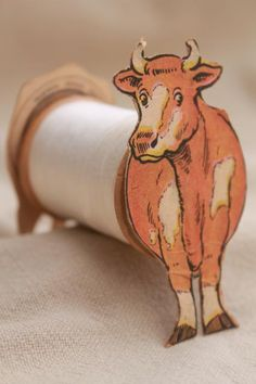 antique paper trade card Coats & Clark sewing thread advertising, toy cow to make w/ spool Sewing Box, Sewing Tools, Sewing Hacks, Sewing Projects, Sewing Ideas, Vintage Sewing Notions, Antique Sewing Machines, Vintage Sewing Patterns, Spool Crafts