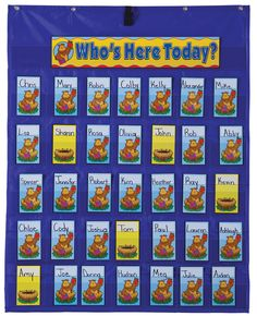 Attendance/Multiuse Pocket Chart....ideal for classroom organization or playing a pocket chart game!
