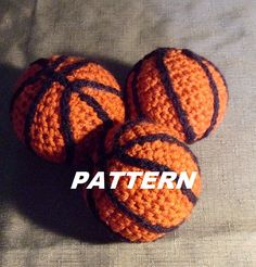 PATTERN Mini Basketball Crocheted by BucketFullofMemories on Etsy
