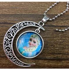 Elsa Frozen Moon Necklace NWOT frozen Elsa moon necklace Jewelry Necklaces