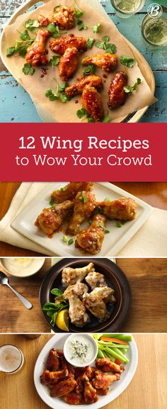From baked buffalo to slow-cooker teriyaki chicken, these easy wing recipes are guaranteed to impress your guests (and have them reaching for seconds). Slow Cooker Recipes, Crockpot Recipes, Cooking Recipes, Sauce Recipes, Healthy Recipes, Great Recipes, Favorite Recipes, Family Recipes, Appetizer Recipes