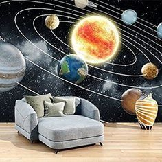 azutura Space Wall Mural Planets Solar System Photo Wallpaper Kids Bedroom Home Decor available in 8 Sizes Gigantic Digital * Visit the image link more details. (This is an affiliate link) Bedroom Murals, Bedroom Themes, Kids Bedroom, Photo Wallpaper, Wall Wallpaper, Wall Stickers Murals, Wall Murals, Wall Art, Solar System Wallpaper