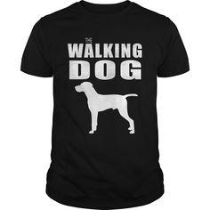 THE WALKING DOG Hungarian vizsla dog