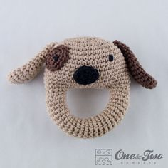 Dog Rattle   PDF Crochet Pattern   Instant by oneandtwocompany,