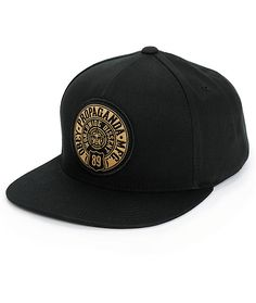 b44814c9d5a Lighten your hat game with a lightweight black cotton crown that showcases  an Obey Prop 89