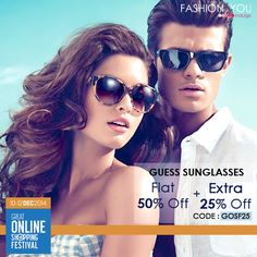 Face the sun in style with Fashionable #Sunglasses from #Guess. Shop Now>>http://bit.ly/1A0QMUj  #GOSFFashionAndYou, #Extra25, #GOSF25
