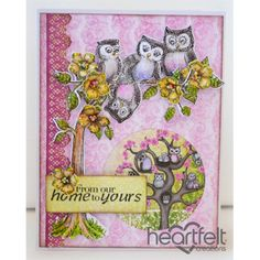 Heartfelt Creations - Yellow Blooming Tree With Owls Project