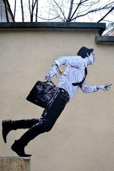 Street art in France by Levalet #streetart #levalet
