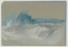 Breaking Wave on Beach after circa 1830 by Joseph Mallord William Turner 1775-1851