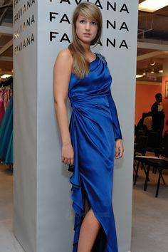 Long one shoulder embellished long sleeve Charmeuse celebrity dress  SPECIAL PRICE: $108.50