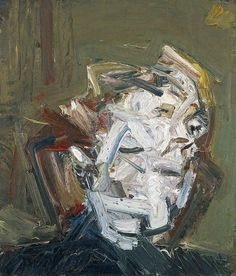 Frank Auerbach (British, b. 1931), Head of J.Y.M., 1974. Oil on board, 28 x 24 in.