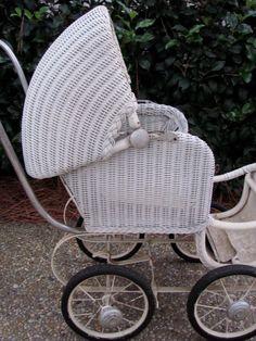 victorian baby strollers | Antique Vtg White Wicker Victorian Baby Buggy Stroller Pram | eBay