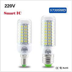 E12 E27 Led Corn Bulb Lights 5730 SMD 24-108 Leds Lighting Lamps 110V 120V