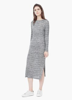 Ribbed long dress | MANGO