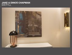 Christian Grey's Apartment - Jake & Dinos Chapman Idiotyll | @delightfulll  TURNER table lamp and #BRABBU VELLUM wall lamp | See more at www.delightfull.eu