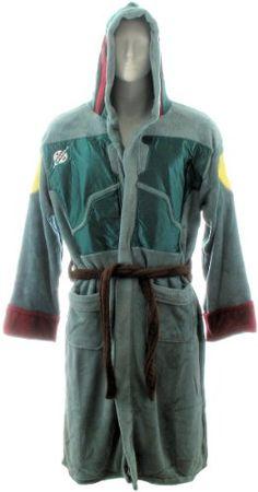 1a94d089c17f Star Wars Boba Fett Fleece Robe  One Size . Fleece fabric. 100%