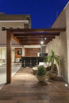 Deck With Pergola, Wooden Pergola, Outdoor Pergola, Backyard Pergola, Small Backyard Landscaping, Modern Landscaping, Small Patio, Pergola Ideas, Patio Ideas