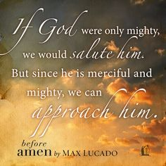 An excerpt from Before Amen by Max Lucado. Click through to learn more about the book.