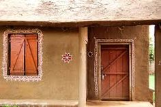 Village mud tr... Indian Village Hut Wall Houses ...