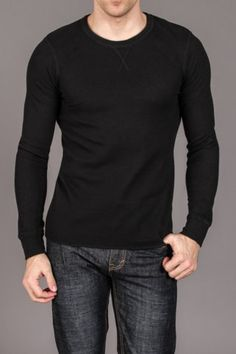 Thermal Black Shirt. Always a casual sexy look