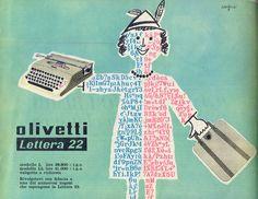 ¤ Savignac pour Olivetti - 1953