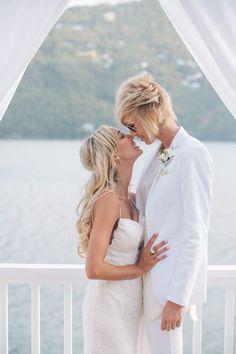 CASSIE AND KAYLA VIRGIN ISLANDS LESBIAN WEDDING
