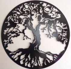 Maybe something like this for my giant wall. Tree Of Life, LARGE Wall decor, Metal Art Metal Tree Wall Art, Metal Wall Decor, Tin Walls, Metal Walls, Decoration, Art Decor, Metal Worx, Tattoo Son, Monogram Wall
