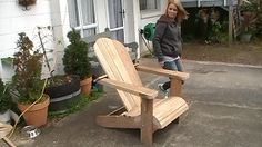 Cape Cod aka Adirondack chair finished
