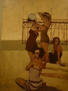 "Oh, you know. Just...hanging out at the beach.  ""Beach Music"" Michael Carson"