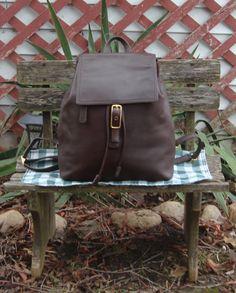 COACH en cuir marron héritage Ouest sac à dos par mirandasmemries