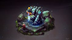 ArtStation - Isometric Ancient Golem, Sephiroth Art