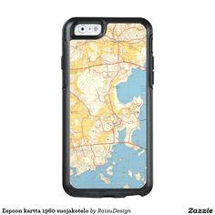 Shop Espoon kartta 1960 suojakotelo OtterBox iPhone case created by RaisuDesign. Iphone Case Covers, Finland, Iphone 6