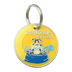 Dogoscope Tag- Aquaruffus the Aquarius - Jan. 20 to Feb. 18    Personality characteristics :: stubborn, loyal, thoughtful, rebellious, very independent & finicky eater.    Woof's your sign?    DogOscopes collar charms and pet ID tags feature colorful, canine representations of the twelve signs of the zodiac.